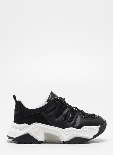 F By Fabrika Kadın Krem Sneakers JACE Siyah